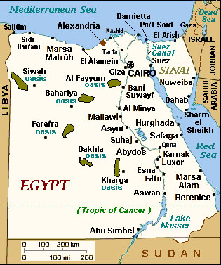 Egypt Architecture Online - Map of egypt in 1450 bc